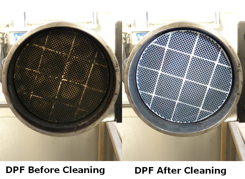 DPF cleaning before and after